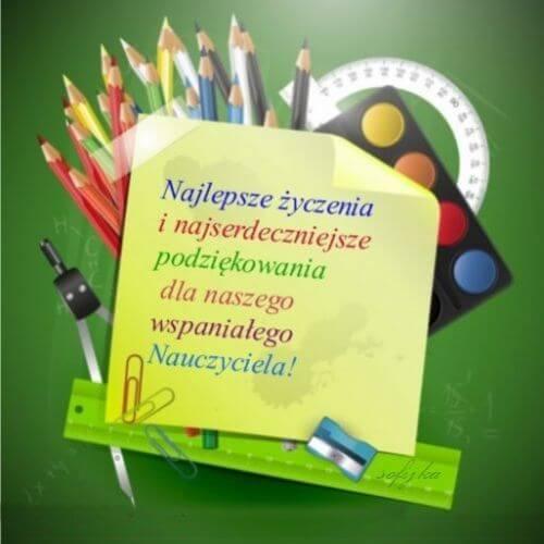 kartki dla nauczyciela